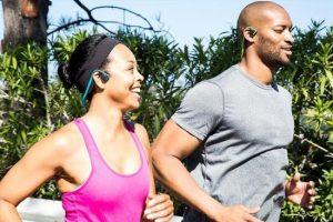 Bone conduction headphones for running