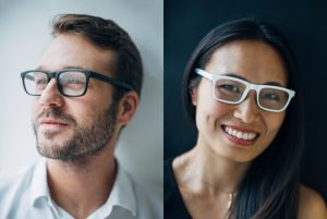 Vue bone conduction eyeglasses