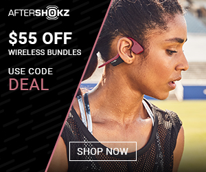 55$ off wireless bundle aftershokz promo code